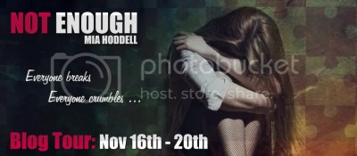 Mia Hoddell--Not Enough blog tour banner