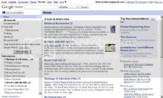 My Google Reader view