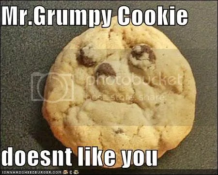 Grumpy cookie