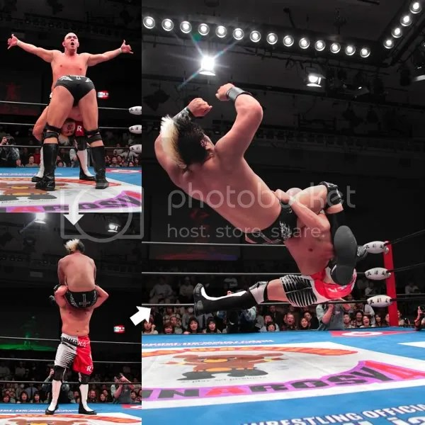 Kea Jumping Powerbomb on Suwama