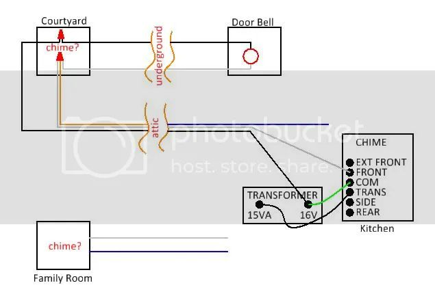 wiring diagram for door bells