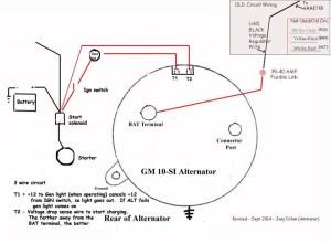 wiring diagram for DElco internal regulator alternatorjpg