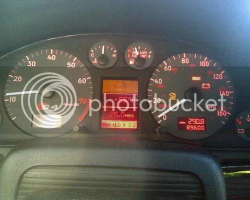 Audi A4 Dashboard Warning Light Symbols Also Instrument Cluster Wiring