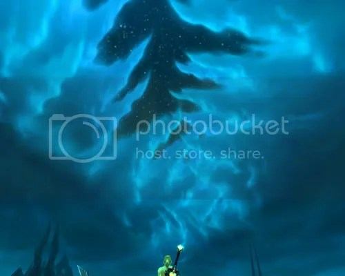 The sky above Icecrown Citadel