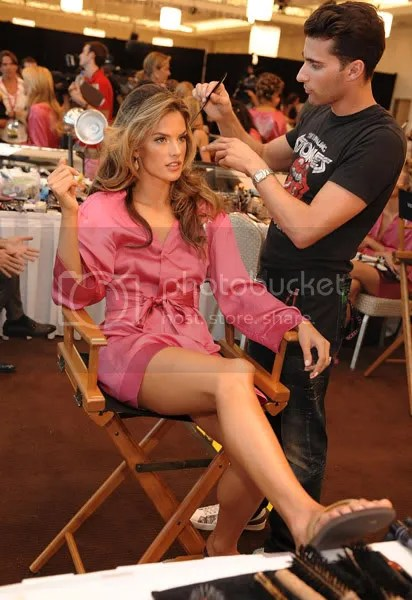 VSFS 2008 Backstage pictures of Alessandra Ambrosio.