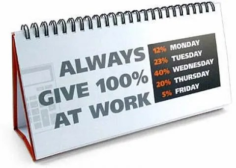Give 100% at work