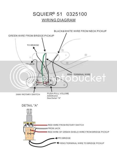 wiring diagram for bridge humbucker/ single coil in neck