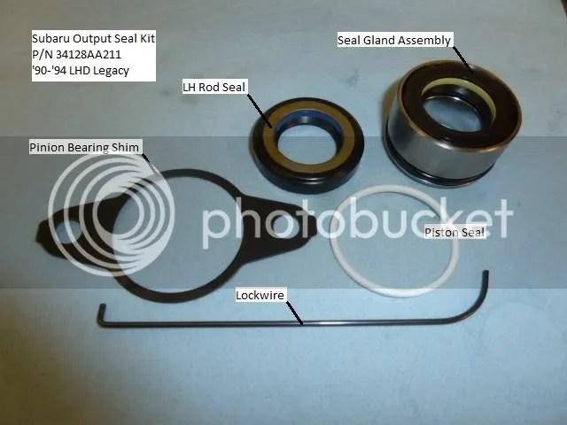 how to repair a leaking steering rack subaru legacy 90 94 legacycentral bbs