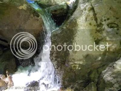 Tiny waterfalls at Rock Chapel