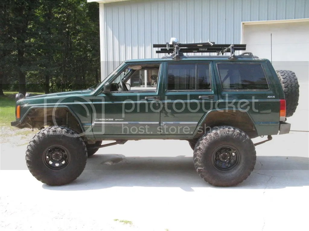 hight resolution of jeep xj 5 inch lift 31s