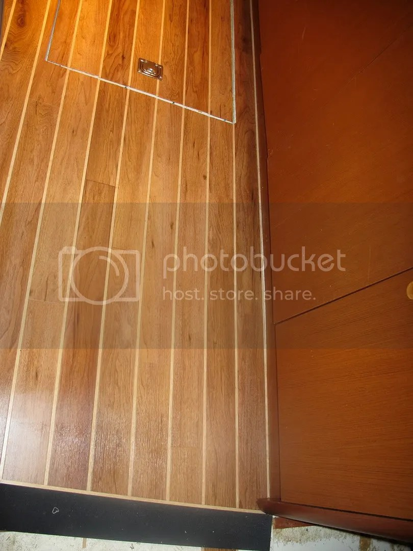 BoaterEd  teak and holly flooring