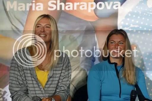 Photos: Maria Sharapova and Vera Zvonareva attend a press conference in Taipei