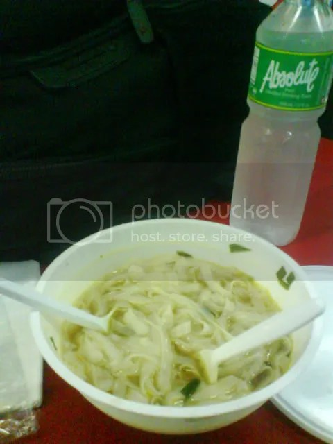 Vietnamese Noodles and Bottled Water