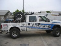 Detattachable Spare Tire Racks for Chase Trucks