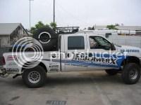 Detattachable Spare Tire Racks for Chase Trucks