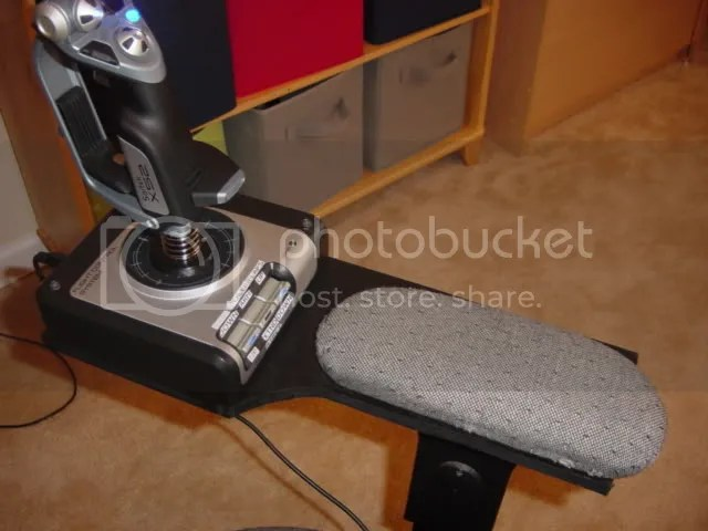 office chair joystick mount wedding stage chairs looking for hotas desk mounting instructions i probably could have made them detachable but another use normal computer activities