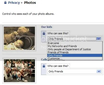 Facebook Album Privacy Settings