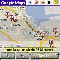 Google Maps Mobile My Location