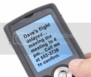 CallWave text message