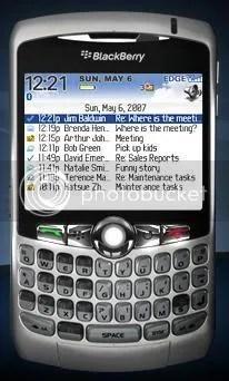 Blackberry Curve screenshot