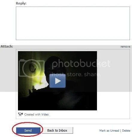 Facebook video click on send