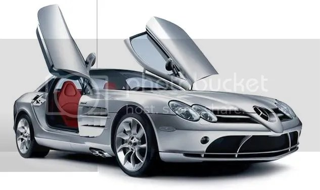 SLR McLaren Roadster with swing doors up