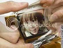 Tiny bendable TV