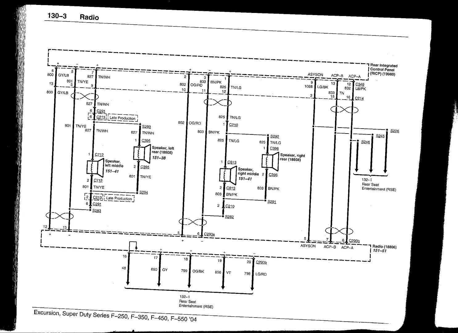 2005 Ford Expedition Stereo Wiring Diagram Keeping Factory Head Installing Aftermarket Amps Factory