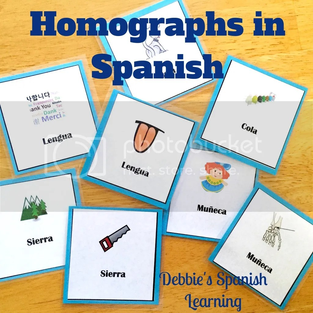 Debbie S Spanish Learning Teaching Words With Multiple Meanings