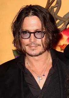 Johnny Depp at Tim Burton MoMA Exhibit