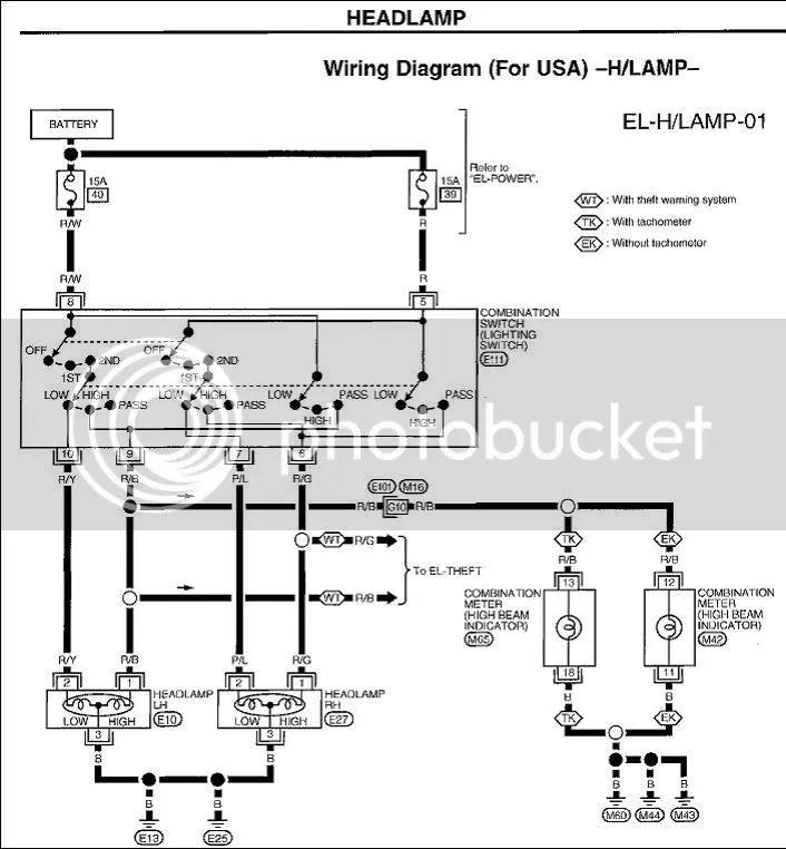nissan micra headlight wiring diagram nissan micra wiring diagram