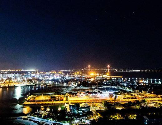 月尾島展望台夜景