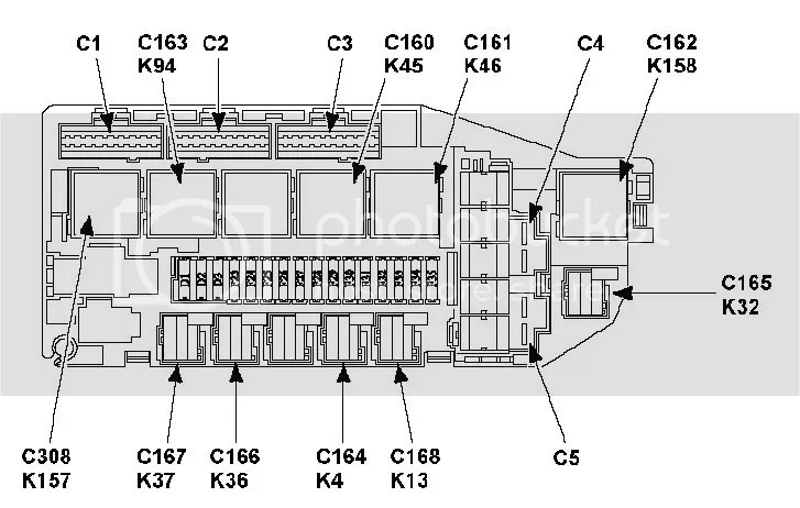 Ford mondeo fuse box layout mk2
