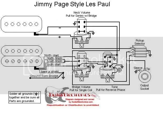 Les Paul Wiring Options Les Paul Guitar Grounding Diagram