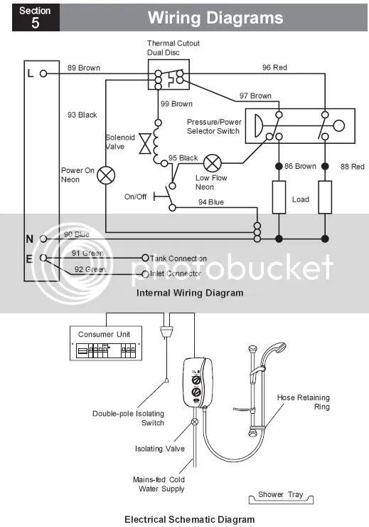 wiring diagram rcd shower unit