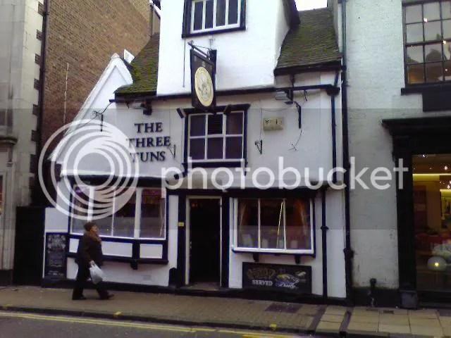 A wonky pub