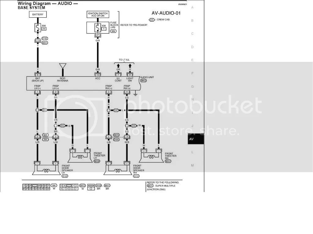 nissan frontier audio wiring diagram scion xb 2008 speaker html