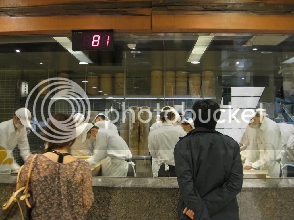 The Chefs hand making the dumplings :O!