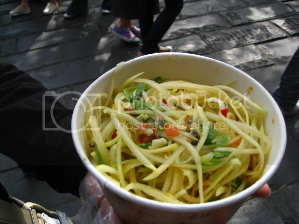 And wings papaya salad~