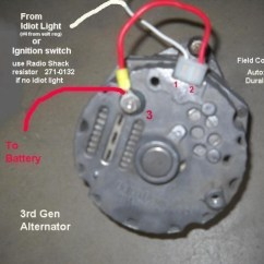 One Wire Alternator Wiring Diagram Ford Trailer 12n Swap The Generator To Run Electric Fan?