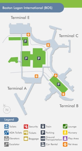 Boston Logan Jetblue Terminals Map