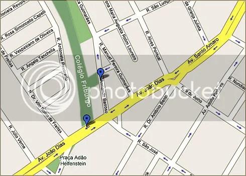 Localização Colégio Friburgo - Clique para ir ao Google Maps