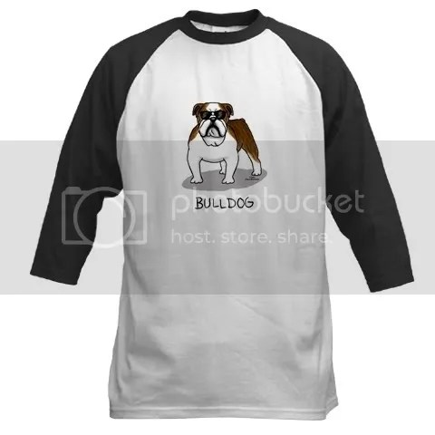 Cool Brindle Bulldog Baseball Jersey