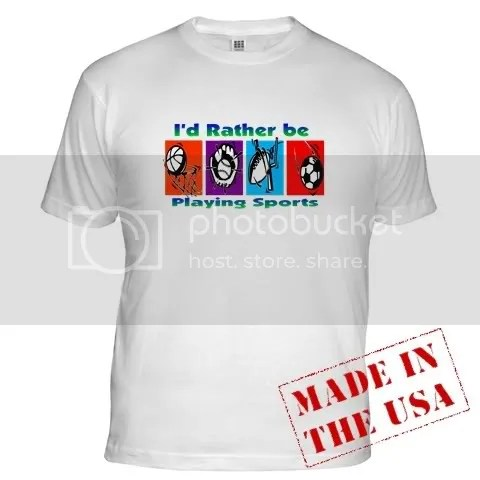 I'd Rather Be Playing Sports Fitted T-Shirt