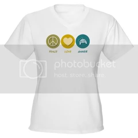 Peace Love Gamer Women's V-Neck T-Shirt
