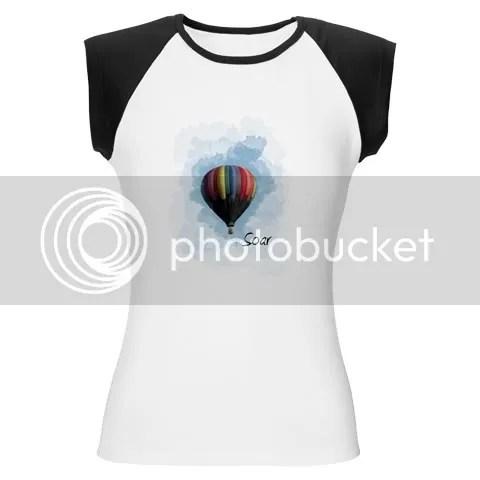 Soar Hot Air Balloon Women's Cap Sleeve T-Shirt
