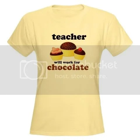 Teacher Chocolate Slogan Women's Light T-Shirt