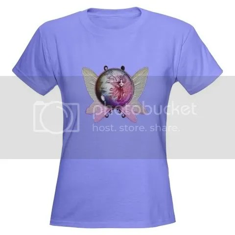 Winged Globe with Fairy Women's Dark T-Shirt