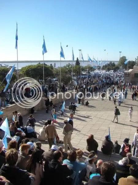 Acto del campo en Rosario por un pa�s federal, 25 de mayo de 2008