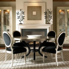 Round Living Room Set Large Chandeliers Details About Hollywood 5 Piece Modern Silver Dining New Table Velvet Chairs